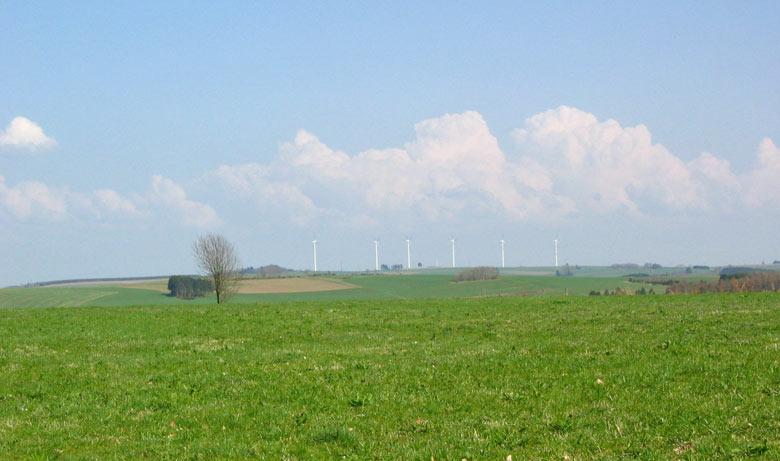 Cumulus met sterke verticale ontwikkeling in de Ardennen