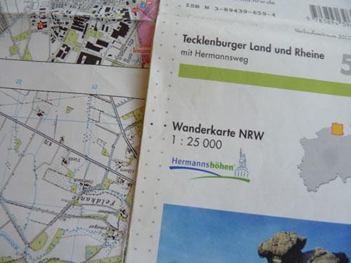wandelkaart Teutoburgerwald
