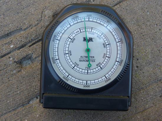 positie bepalen met hoogtemeter en kompas