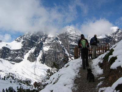 hevige sneeuwval in hartje zomer bij Fulpmes Stubaital