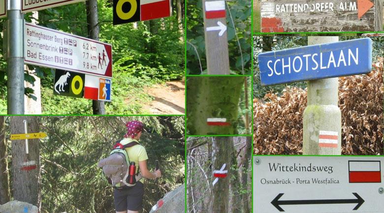 internationale Rood/Wit wandelroute markeringen van de Grote Route paden