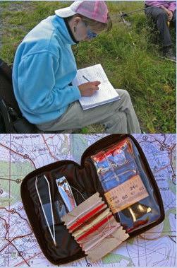 uitrusting voor wandeltochten in de bergen