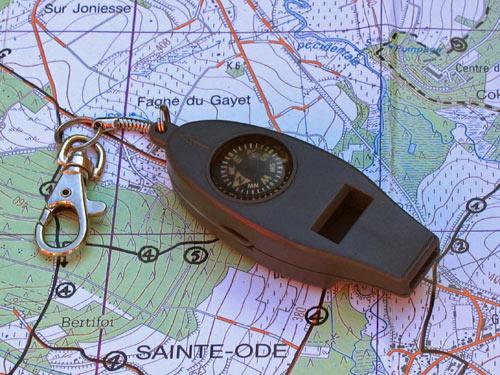Fluit met kompas en thermometer