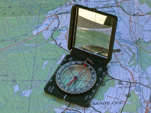 Signaalspiegel in het kompas