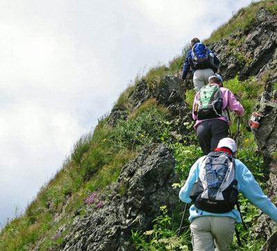steile helling omhoog