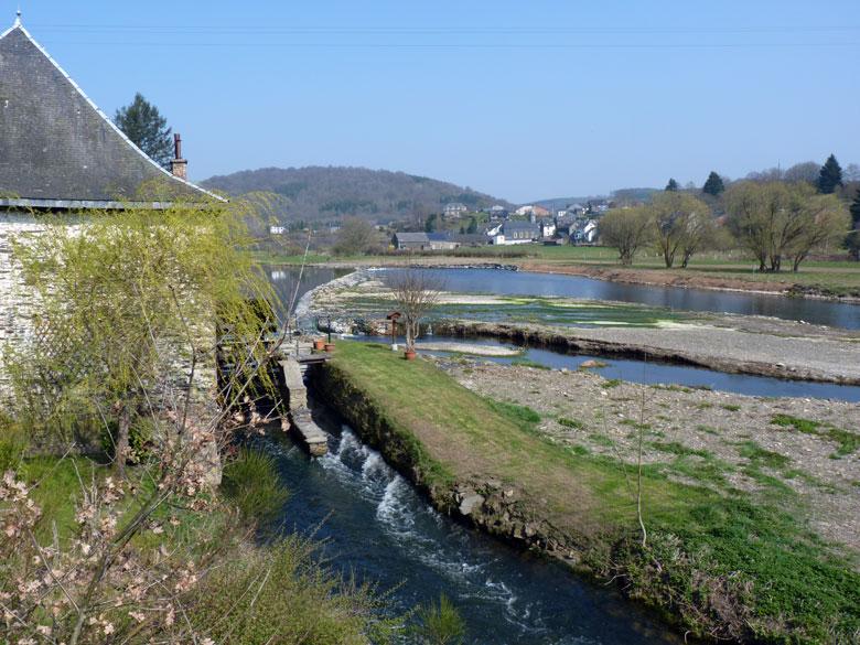 terug bij de prachtige watermolen van Cugnon