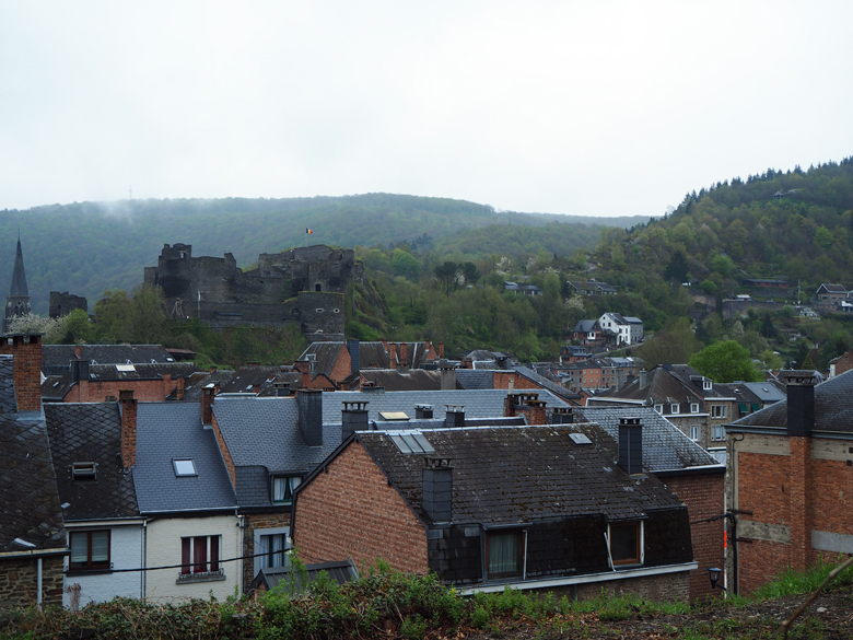 uitzicht vanaf de andere zijde van de stad