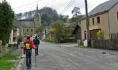 hoofdstraat door het dorp