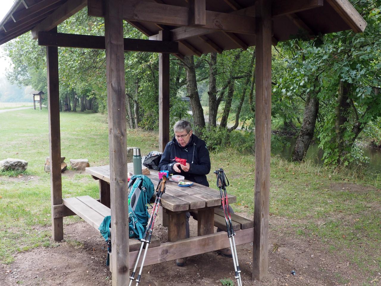 picknick aan de Ourthe oever
