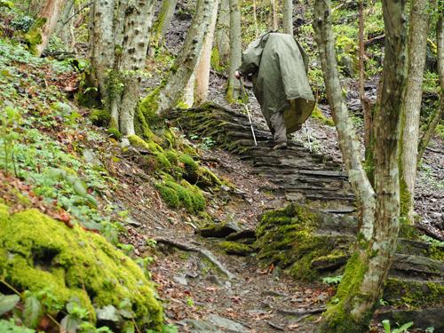 met bruggen en trappen uit het dal klimmen