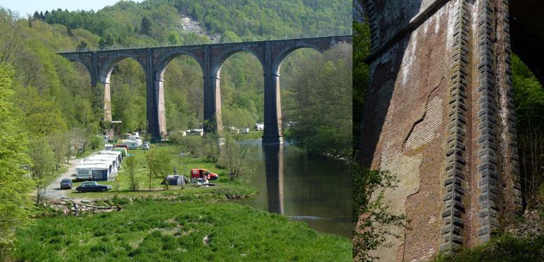 het oude spoorwegviaduct krijgen we vandaag van alle zijden te zien