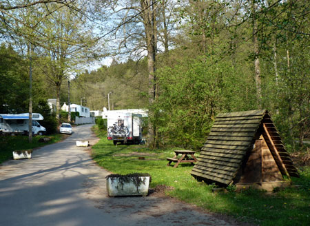 ingang camping Le Canada in Chiny