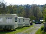 veel stacaravans op de camping