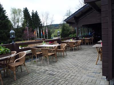 terras bij het restaurant