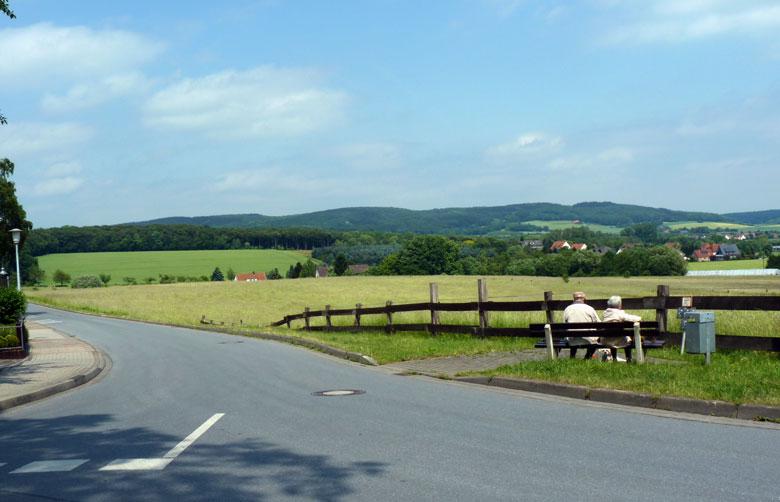 uitzichtpunt aan het randje van Bad Rothenfelde