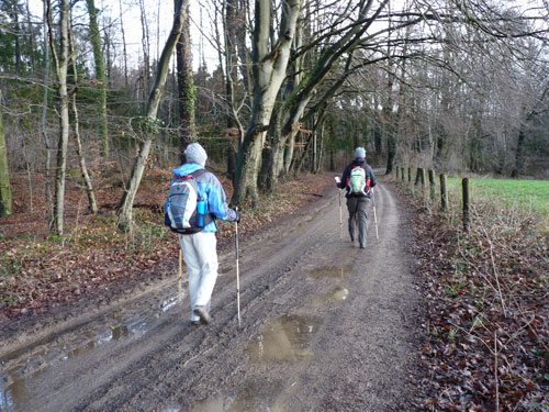 het eerste modderige pad