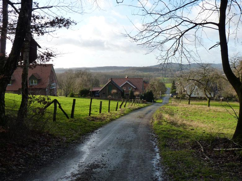 uitzicht bij het verlaten van de Heidberg
