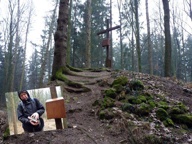 bergtop Schmittenhöhe, zelfs met topkruis en Gipfelbuch