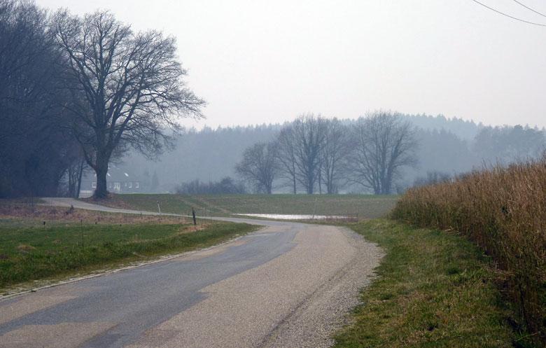 weg over de Vorwalder Berg