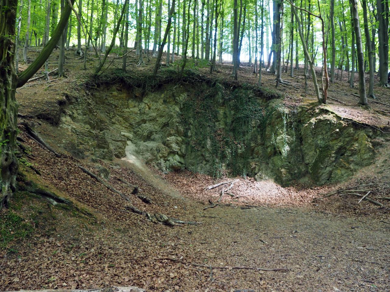 een zware klim via de Hermannsweg