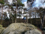 tussen de rotsformaties Dörenther Klippen
