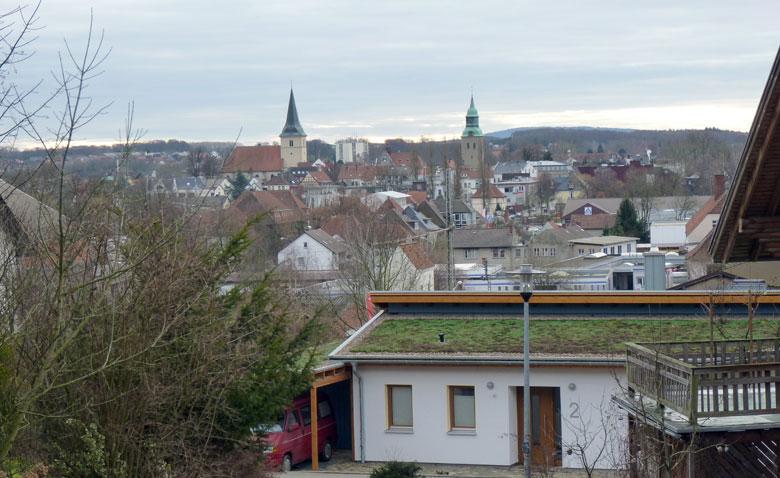 het centrum van Melle met de twee kerken