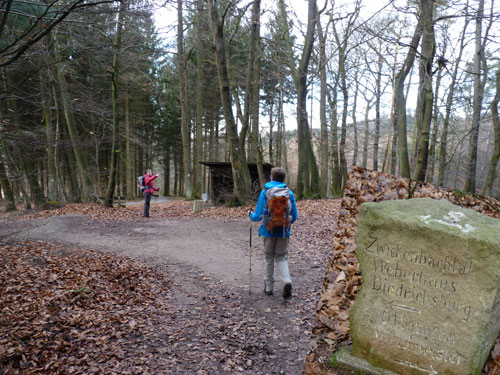 Schutzhütte in het Zwickenbachtal