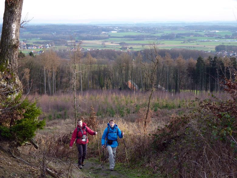 de laatste klim naar de Ottohöhe