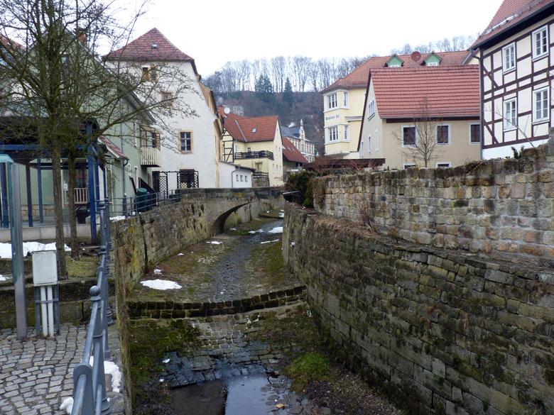 het centrum van Stadt Wehlen