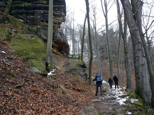 de eerste klim over de Malerweg