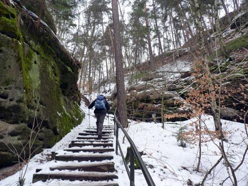 op weg naar de Fels Rauenstein