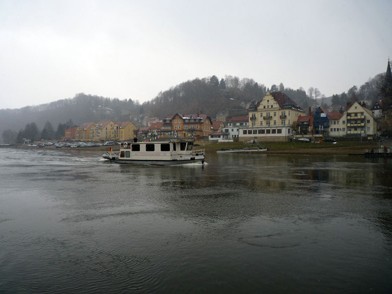 de skyline van Stadt Wehlen