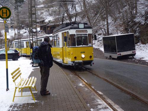 tramhalte bij de camping in Ostrau