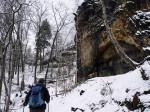 beklimming van de Schrammsteine naar de Schrammsteinassicht