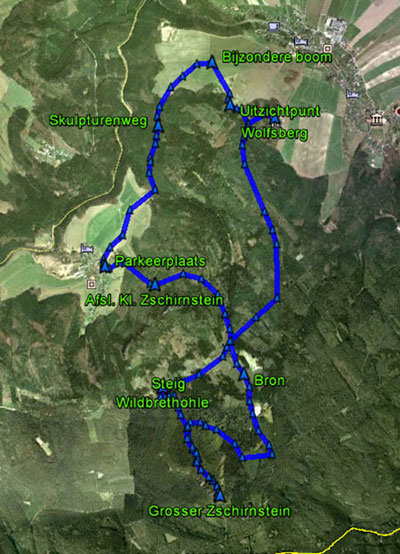 routekaart Grosser Zschirnstein