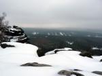 op de top van de Grosser Zschirnstein