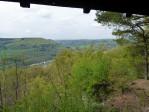 even genieten bij het uitzichtpunt boven Bollendorf