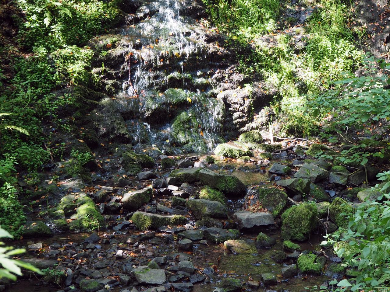 de Spitterfall, hoogste waterval in het Thüringer Wald