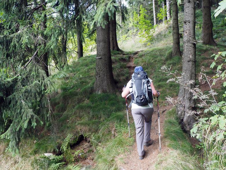 stevige klim naar het uitzichtpunt Bergsee