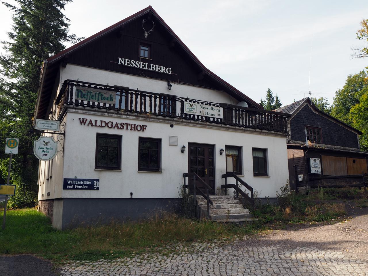 het verlaten Waldgasthof Nesselberg