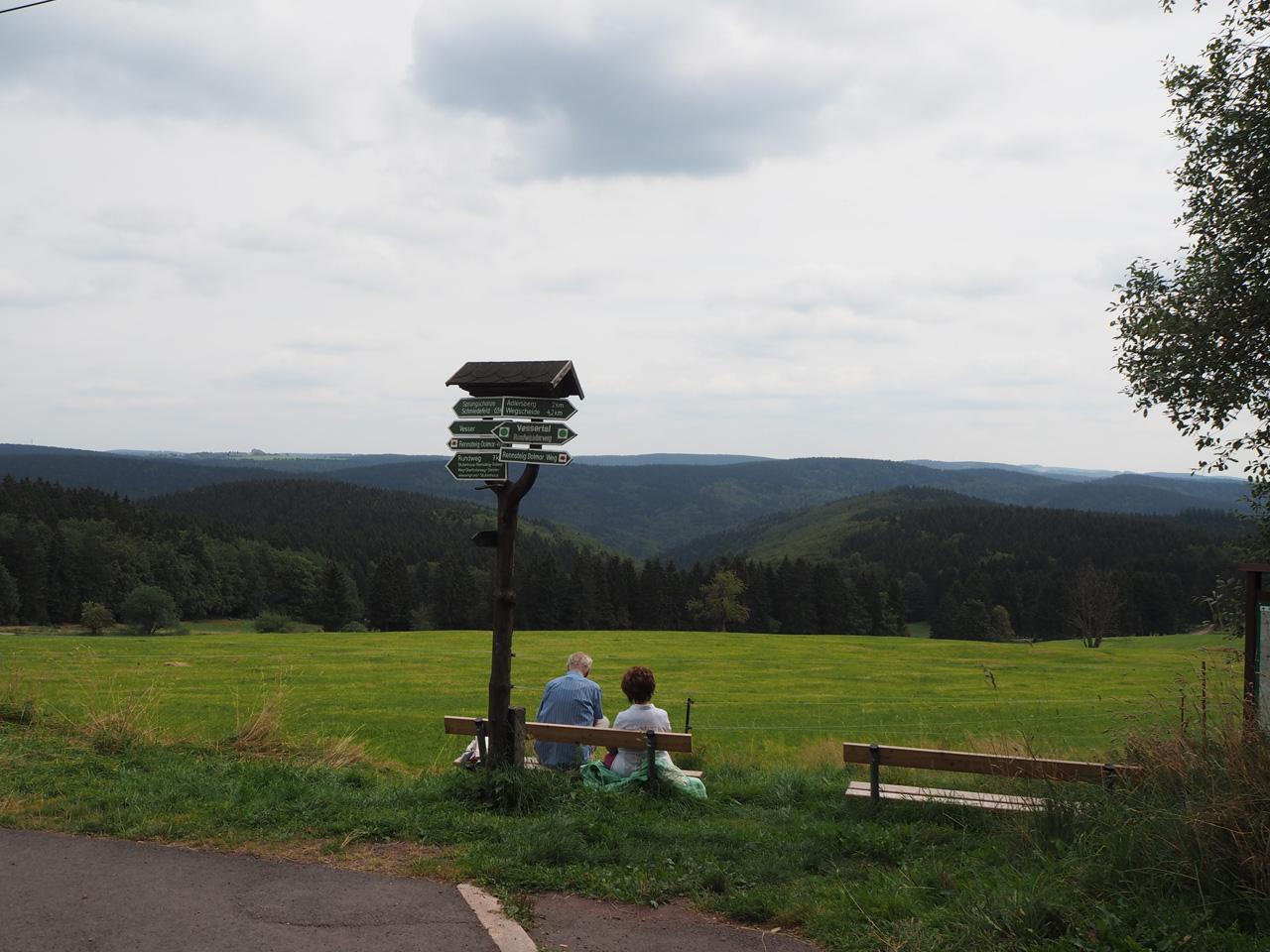 uitzicht vanaf het Berghotel Stutenhaus