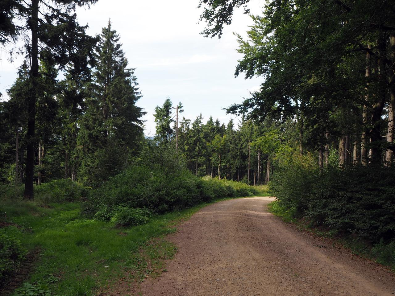 de laatste meters over de bergrug naar Wegscheide