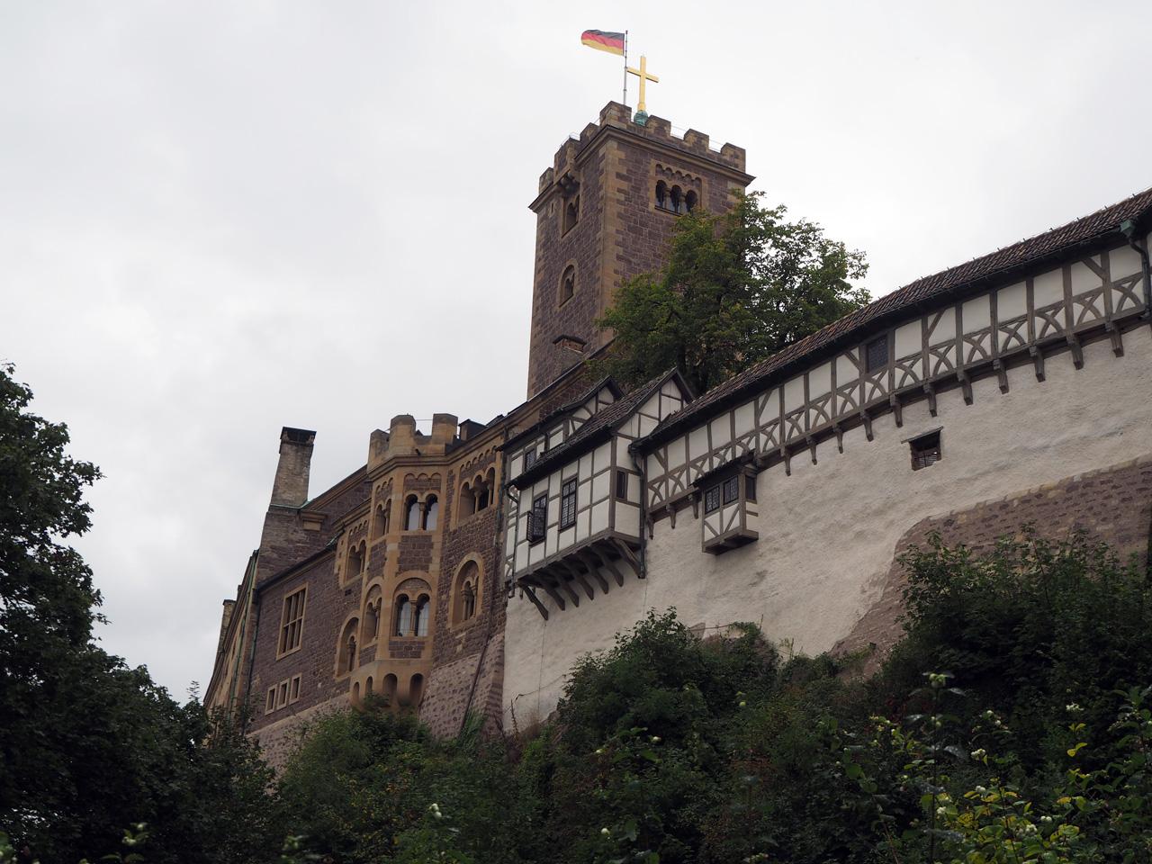 aankomst bij Schloss Wartburg