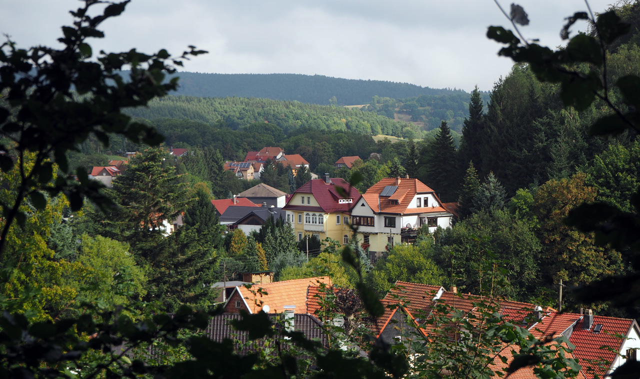 uitzicht over de daken van Winterstein