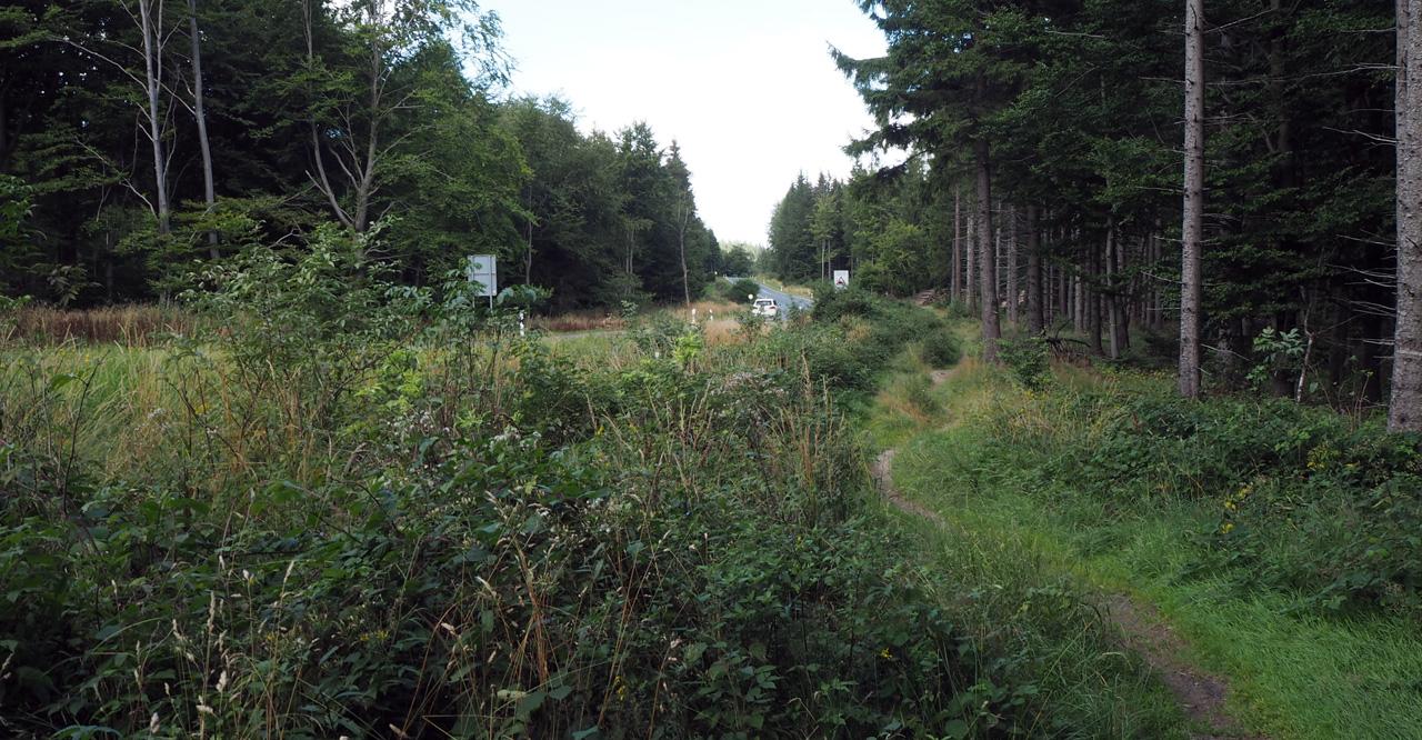 pad parallel van de hoofdweg