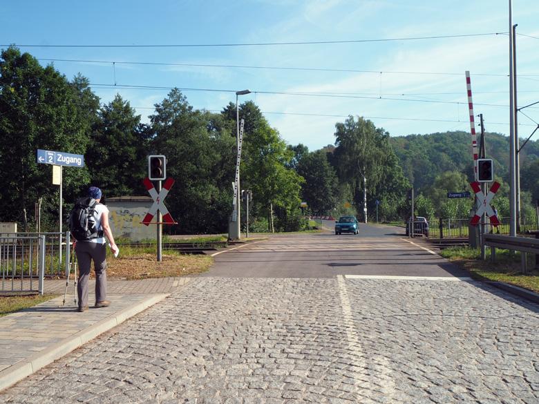 Schönau Hörsel spoorwegovergang