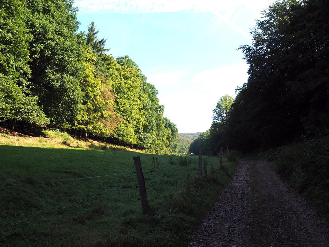 Zapfengrund, een smal dal