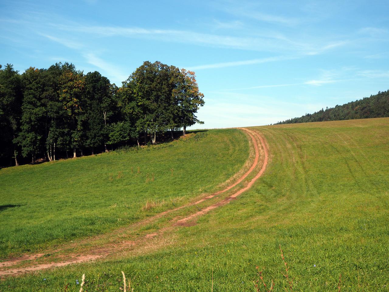 golvend landschap onder de Hörselberg