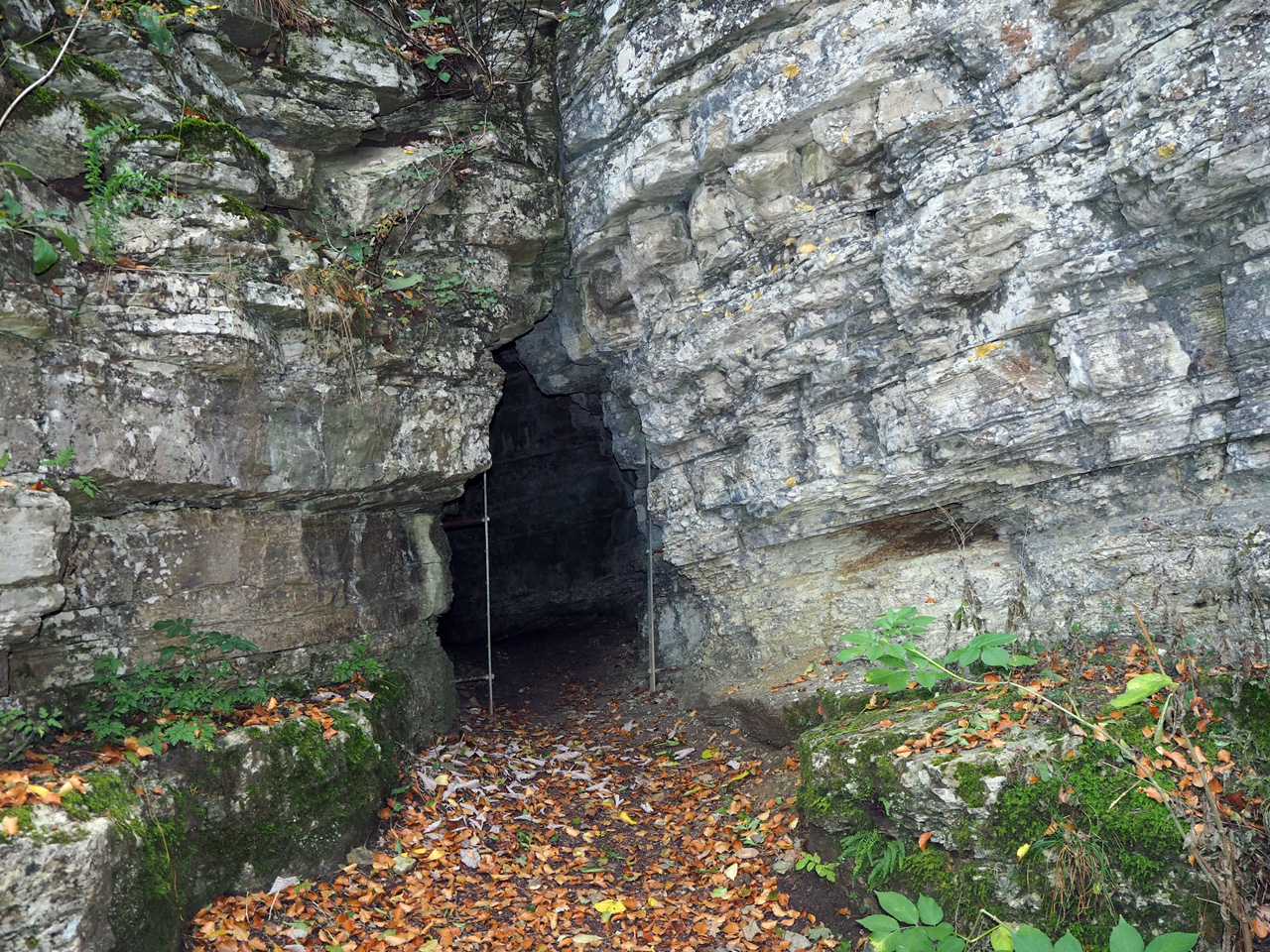 bij de Venushöhle aangekomen