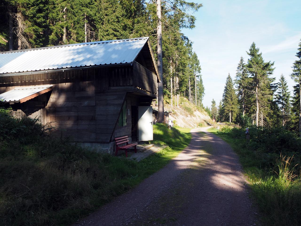 langs de Meininger Hütte